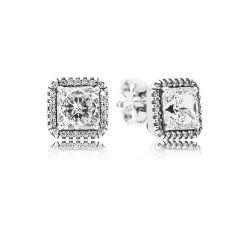 Kolczyki Pandora ze srebra,  ponadczasowa elegancja
