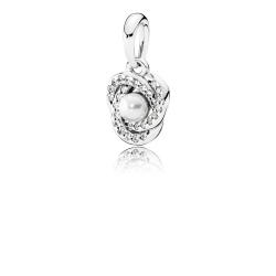 Zawszka Pandora - Biały Perłowy Kryształ 390401WCP