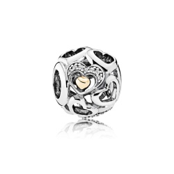 Charms Pandora - Serce Wypełnione Wdzięcznością 792108CZ