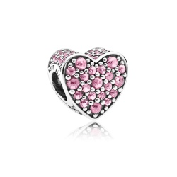 Charms Pandora - Różowe Bijące Serce792069PCZ