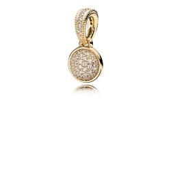 Zawieszka Pandora z 14k złota - Cyrkonia Sześcienna 356213CZ