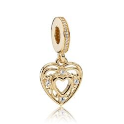 Zawieszka Pandora z 14k złota - Romantyczne Serce 751001CZ