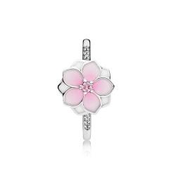 Pandora Pierścionek ze srebra, kwiat magnolii 191026PCZ