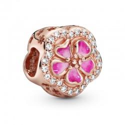 Charms Pandora - Lśniący różowy kwiat brzoskwini 788079CZ