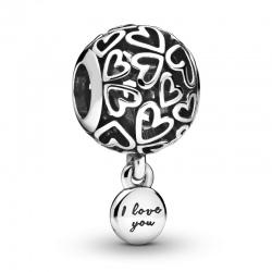 Charms Pandora - Ażurowe serca miłości 798606C00