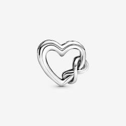 "Charms Pandora - Serce ""Kocham Cię Mamo"" z symbolem nieskończoności 798825C00"