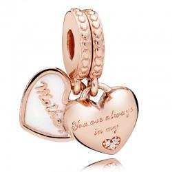 """Zawieszka Pandora - """"Zawsze jesteś w moim sercu"""" 782072EN23"""
