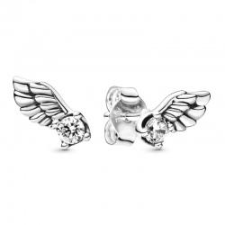 Kolczyki Pandora - Lśniące skrzydła anioła 298501C01