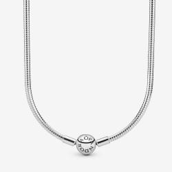 Srebrny naszyjnik Pandora z okrągłym zapięciem 590742HV
