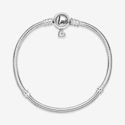 Srebrna bransoletka Pandora - Moments z zapięciem z asymetrycznym sercem 598698C00