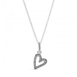 Naszyjnik Pandora - Z lśniącym asymetrycznym sercem 398688C01-50