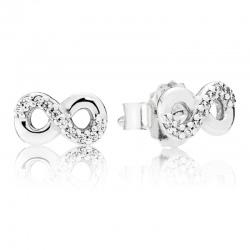 Kolczyki Pandora ze srebra - Nieskończoność