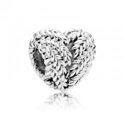 Charms Pandora - Serce z wzorem w kłos 797618