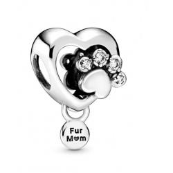 Charms Pandora - Serce i odcisk psiej łapy 798873C01