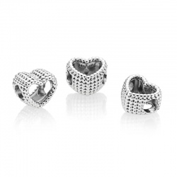 Charms Pandora - Srebrne serce z koralików 797516