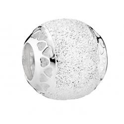 Charms Pandora - Serce o skrzącej fakturze 792097