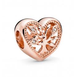 Charms Pandora - Ażurowe serce z drzewem rodzinnym 788826C01