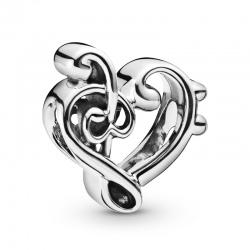 Charms Pandora - Sercowy klucz wiolinowy 798346