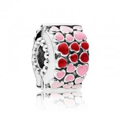 Klips Pandora - Z różowymi i czerwonymi serduszkami 796594ENMX