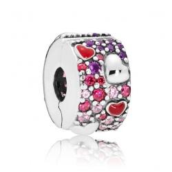 Klips Pandora - Asymetryczne serca 797838CZRMX