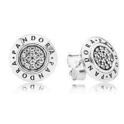 Kolczyki Pandora ze srebra, cyrkonia sześcienna