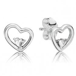 Kolczyki Pandora - Asymetryczne serca 297813CZ