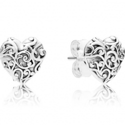 Kolczyki Pandora - Królewskie serce 297693
