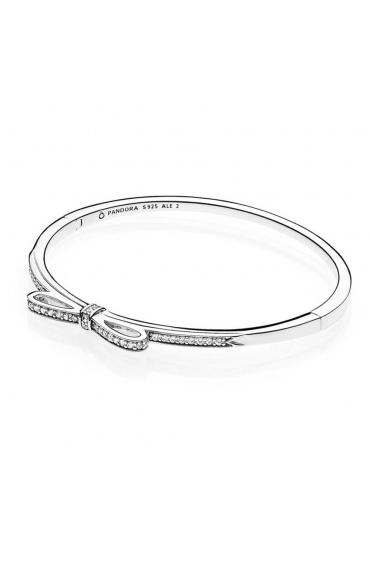 Srebrna bransoletka Pandora - bangle z cyrkoniami 590536CZ