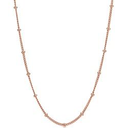 Naszyjnik łańcuszek z koralikami Rose 387210-70