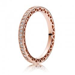 Pierścionek Pandora Rose - Błyszcząca obrączka 180963CZ