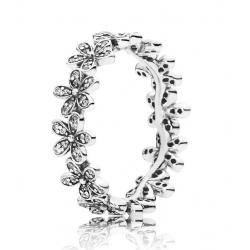 Pierścionek Pandora ze srebra, Cyrkonia Sześcienn, tiara