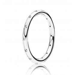 Srebrny pierścionek Pandora, Cyrkonia Sześcienna