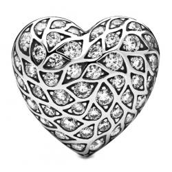 Pojedyńczy Kolczyk Pandora - Serce 298568C01