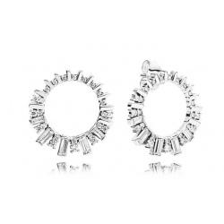 Kolczyki Pandora - Z kołami w kształcie kostek lodu 297545CZ