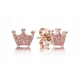 Kolczyki Pandora Rose - Z różową koroną 287127NPO