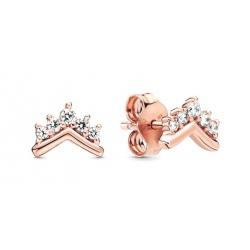 Kolczyki Pandora - Wishbone Rose 288274CZ