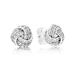 Kolczyki Pandora ze srebra - Węzły