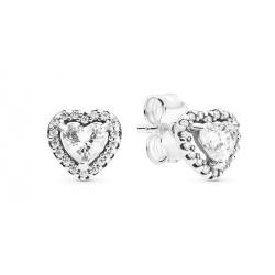 Kolczyki Pandora - Wzniesione serca 298427C01