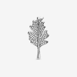 Pierścionek Pandora - Motyw liścia 198347CZ