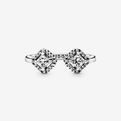 Pierścionek Pandora - Lśniący kwadrat 198506C01