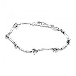 Srebrna bransoletka Pandora - Lśniące stokrotki 598807C01