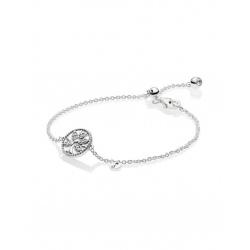 Srebrna bransoletka Pandora - Lśniące rodzinne drzewo 597776CZ