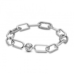 Srebrna bransoletka Pandora - Me z otwieranymi łącznikami 598373