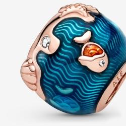 Charms Pandora Rose - Lśniące fale i ryby 789004C01