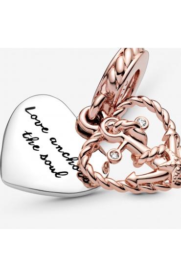 Zawieszka Pandora Rose - Serce z kotwicą miłości 788940C01