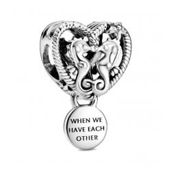Charms Pandora - Ażurowe serce z konikami morskimi 798949C00