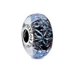 Charms Pandora - Granatowe fale Murano 798938C00