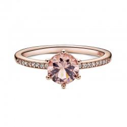 Pierścionek Pandora Rose - Różowa lśniąca korona 188289C01