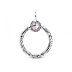 Zawieszka Pandora - O mała Różowe pavé 399097C02