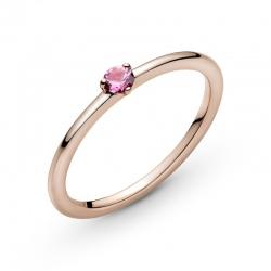 Pierścionek Pandora Rose - Różowe serce solitaire 189259C03